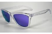 Oakley Frogskins polished clear / Violet iridium