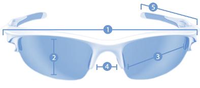 Skizze Brillenabmessungen